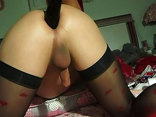 Silk Stockings With Anal Highlights