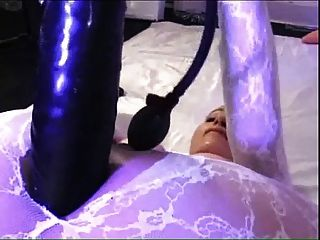 Big Dildo In Catsuit