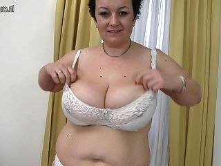 Chubby Amateur Mother Shows Off Big Rack