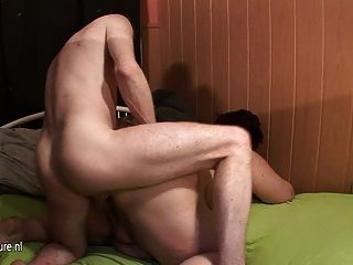 Bbw Mature Mother Eating On A Hard Cock