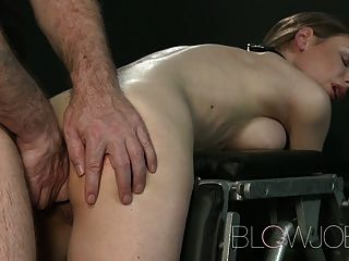 Blowjob Big Breasted Teen Has Her Petit Mouth Stretched