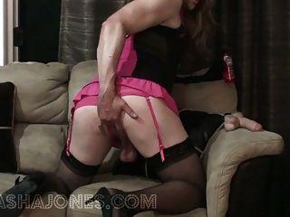 Mistress Tasha Fucks Sissy Slut