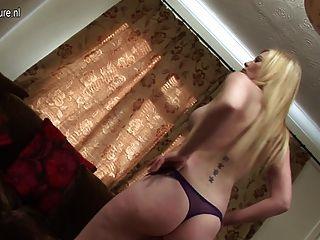 Hot British Milf Getting Naked And Naughty