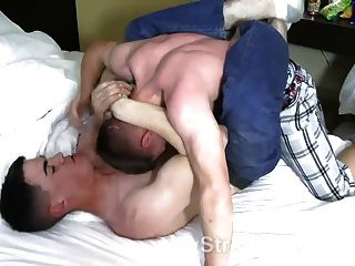 Marine Buddies Wrestling Naked In A Motel Room