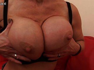 Old But Still Hot Pierced British Mom