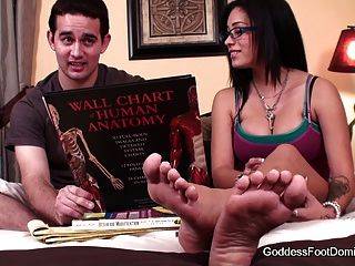 Foot fetish coed peer tutor - 1 part 8
