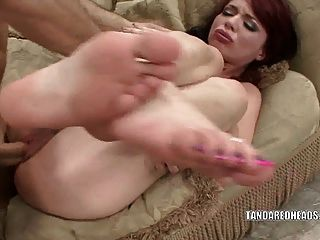 Redhead Coed Jessi Palmer Gets Her Wet Pussy Fucked
