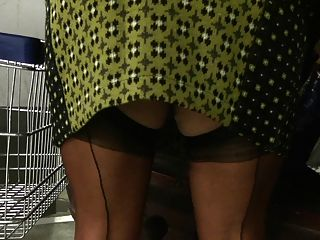 Shopping In My Ff Stocking, Upskirt