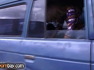My Russian Gf Nude In The Car