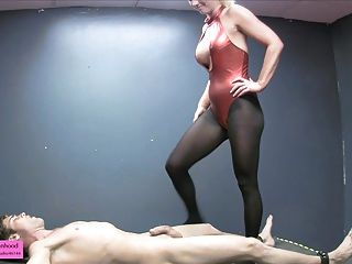 Bound Teased Balls Busted Smothered And Fed Pre Cum