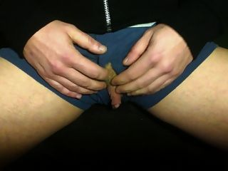 Ftm Clit-cock Stroke And Showcase In Boxer Briefs