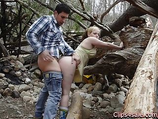 Public Sex Outdoors In The Woods. Lilly Ligotage And Rocko