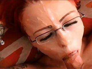 Beautiful British Red-head Pov Facial