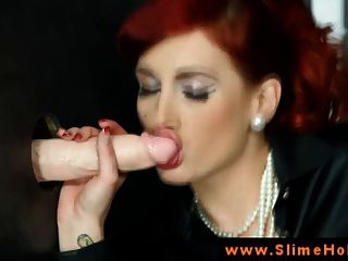 Redhead Bukkake Babe At Gloryhole Sucking
