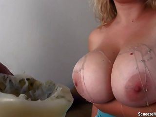 Hot Wax On Big Boobs!