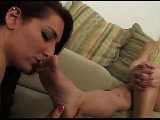 Lesbians lick toes and nylon feet think, that