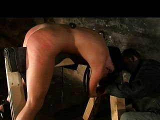 Whipped caned a fig root and hook in her ass Part 2