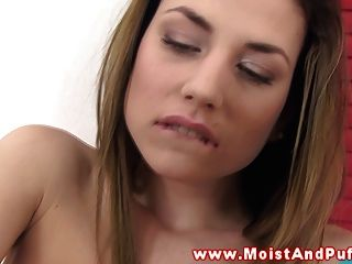 Hot Juicy Cherry Babe Rubs Her Tight Ass