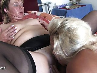 Older Lesbian Getting Wet With Teen