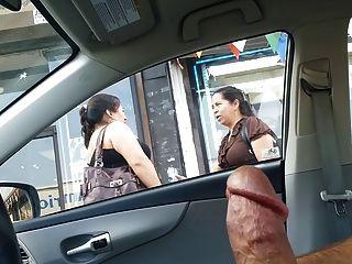 dick flash with handjob