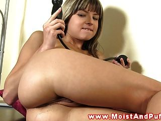 Masturbating Petite Babe Loves Herself With Toy