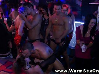 Horny Party Sluts At Orgy Fucked