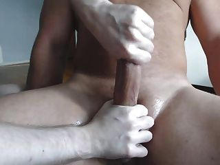Me Milking A Hairy Hung Stud - Post Cum Torture