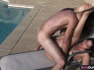 Horny Amateurs Fucking By The Swimming Pool