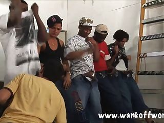 5 Black Dudes Gangbang A Local Lad