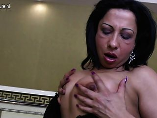 Mature Arab Mom With Big Black Rubber Cock