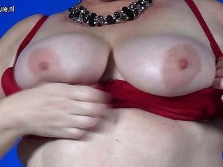 Dutch Mature Bbw Loves Riding Her Rubber Toy