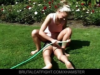 Wife Catches Husband With Blonde And Beats Her