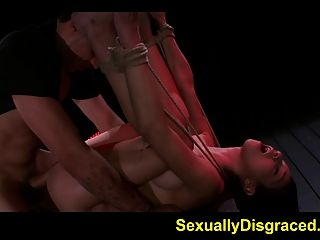 Rough Sex For Mia Hurley While Bound And Helpless