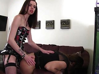 Mistress Fucks His Ass