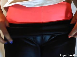 Big Boobs, Tight Leather Pants, Tight Shorts, Hot Cameltoe!