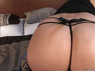 Blond Busty European Milf Playing In Bed With Her Big Tits