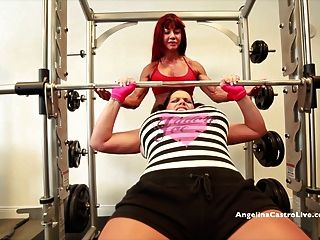 Angelina Castro Gets Strap On Workout From Muscular Babe!!
