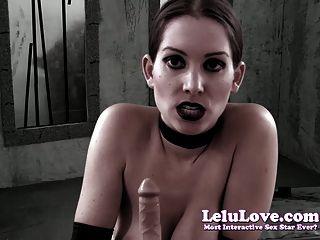 Lelu Love-goth Girl Dildo Blowjob