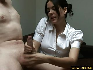 Cfnm Babe Gives Guy A Handjob