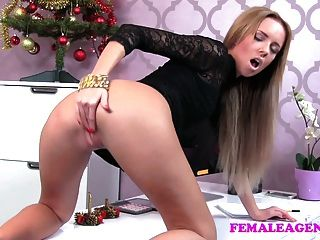Femaleagent Bad Santa Gets A Great Casting Foot Job