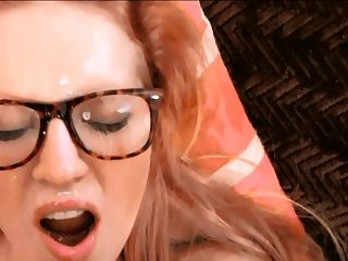 Blonde With Glasses Pov Facial