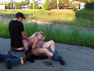 Extreme Public Orgy With Blonde Girl Part 4