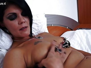 Hot Cougar Sexy Mother Alone On Her Bed