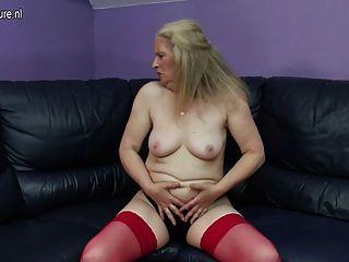 Horny Old Grandma Masturbating Like Crazy