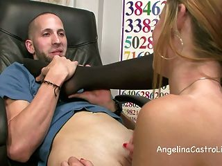 Wet And Sloppy Footjob & Bj In Class With Angelina Castro!?