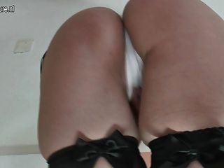Dirty Mature Slut Fingering Her Both Holes