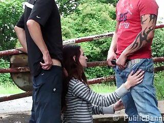 Young Skinny Teen Girl Public Sex Gangbang Part 1