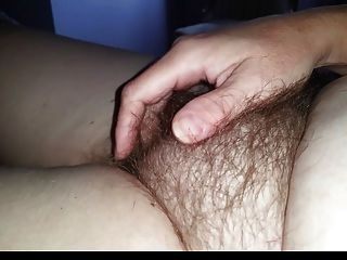 Wife Gets Me Rock Hard When She Rubs Her Own Hairy Pussy