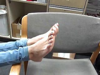 Young Petite Redhead Latina Showing Her 18 Year Old Feet