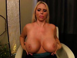 Karen Oils Up Her Breasts